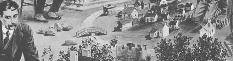 H.G. Wells participando en juegos de simulación