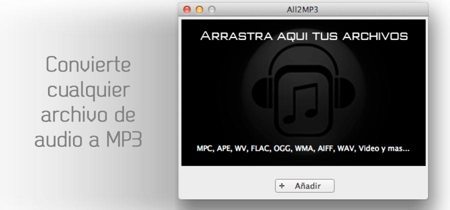 Convierte cualquier archivo de audio a MP3